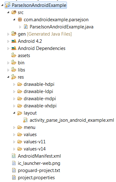 Parse JSON Data - Android Example